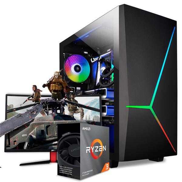 PC GAMER ARMADA AMD RYZEN 3 3100 - A320 - 8GB - 120GB SSD - 1TB HDD - GTX 1050TI
