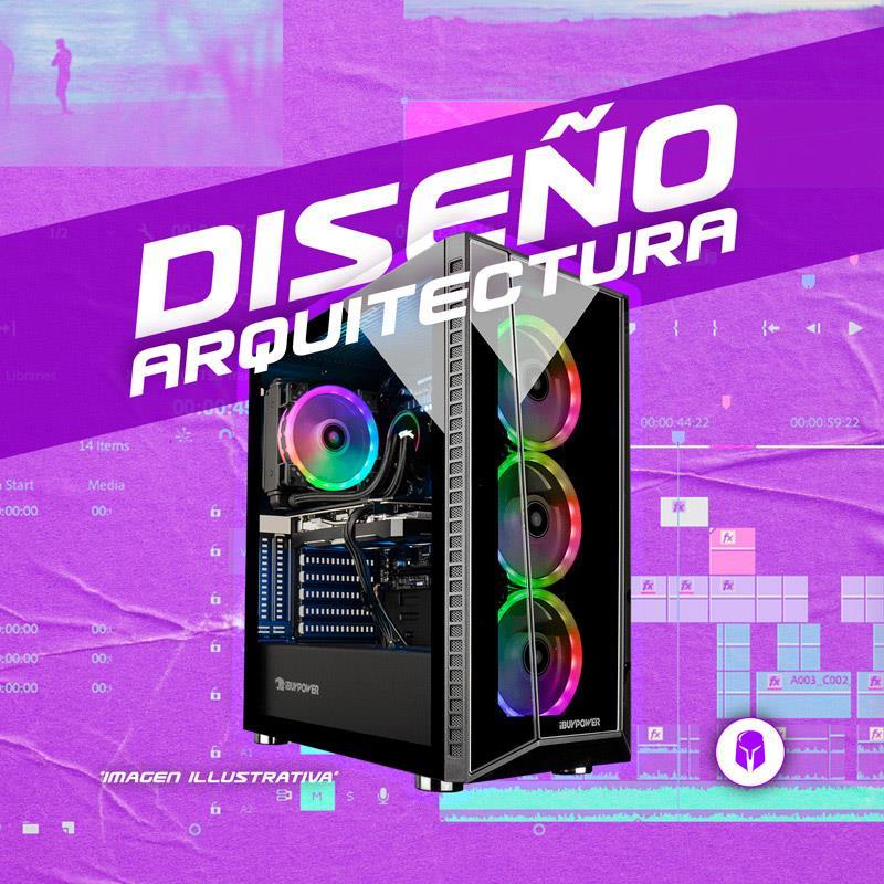 PC Diseño | AMD R5 3600 - B450 - 8GB - GTX 1660 S - 120GB SSD - 1TB