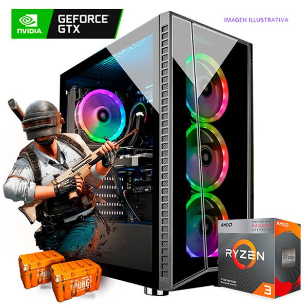 PC Armada AMD R3 3200G - A320 - 8GB - GTX 1650 S - 240GB SSD
