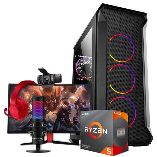 PC Streaming AMD R5 3600X - B450 - 16GB - GTX 1660 Ti - 120GB SSD - 1TB