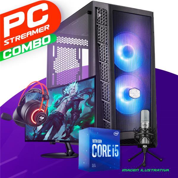 PC Streaming Intel I5 10400F - H410 - 16GB - GTX 1650 - 240GB SSD - 1TB