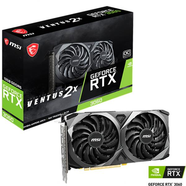 PREVENTA 25 DE ABRIL - Placa de Video MSI RTX 3060 Ventus 2X 12GB GDDR6 OC