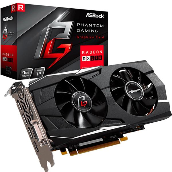 Placa de Video Asrock Rx 570 Phantom Gaming D OC 4GB GDDR5