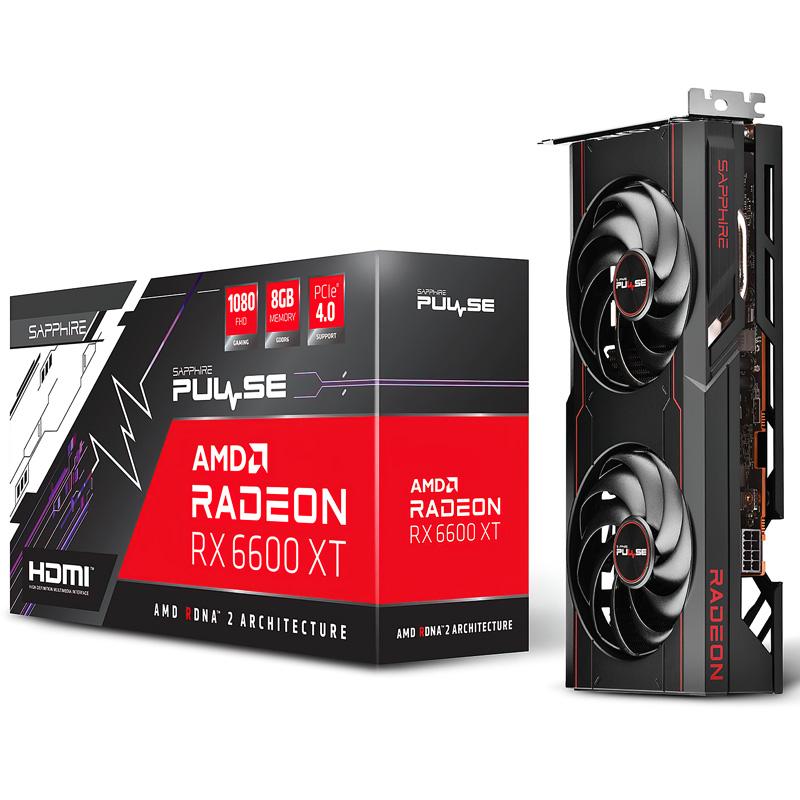 PLACA DE VIDEO ASROCK AMD SAPPHIRE PULSE RX 6600 XT 8GB GDDR6 OC