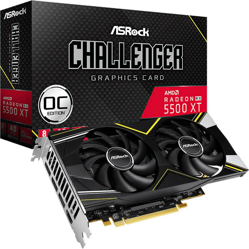 Placa de Video Asrock Rx 5500 XT CHALLENGER D OC 8GB GDDR6