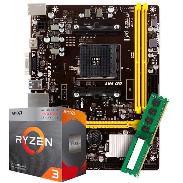 Combo Actualizacion AMD R3 3100 - A320 - 8GB